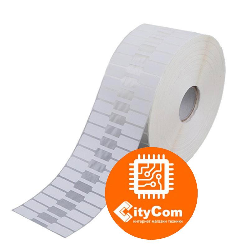 Термотрансферные этикетки для ювелирных изделий, не клейкий материал на сгибе, 78мм,1000 шт.Арт.4773