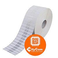 Термотрансферные этикетки для ювелирных изделий, клейкий материал на сгибе, 78мм, 1000шт Арт.4772