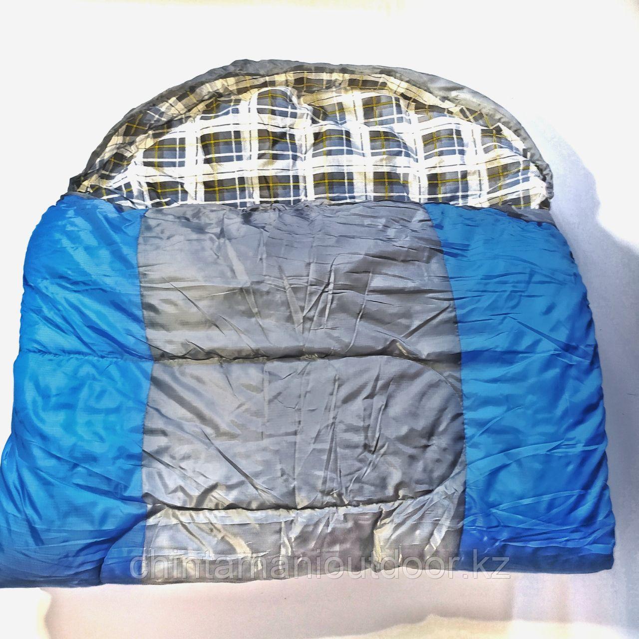 Спальный мешок зимний, шириной 1 м, качественный, новинка -25, -10, 0 - фото 1