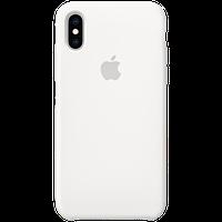 Оригинальный силиконовый чехол для iPhone XS - White