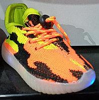 Кроссовки детские светящаяся подошва LED