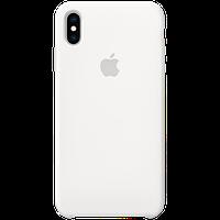 Оригинальный силиконовый чехол для iPhone XS Max - White