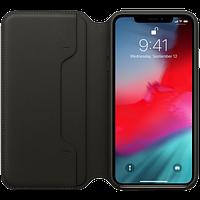 Оригинальный кожаный чехол Folio iPhone XS Max - Black