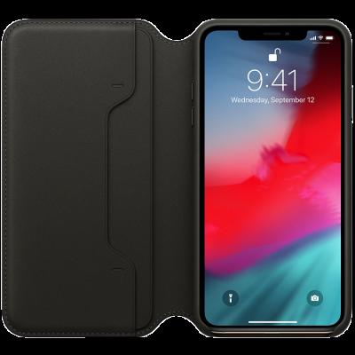 Оригинальный кожаный чехол Folio iPhone XS Max - Black - фото 1