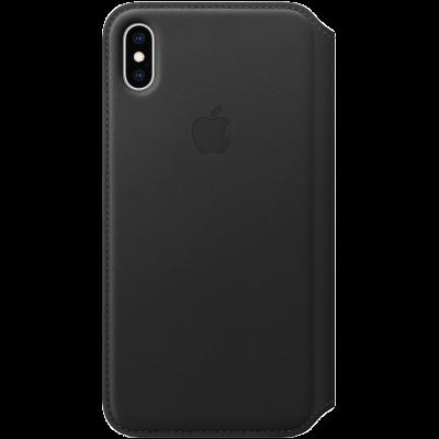Оригинальный кожаный чехол Folio iPhone XS Max - Black - фото 3