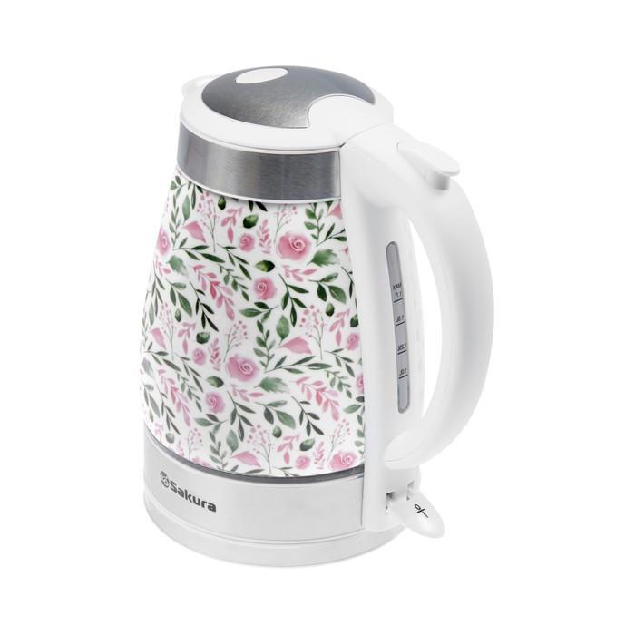 Чайник электр SAKURA SA-2017R (1.7) керамич розы