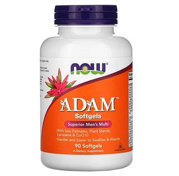Now Foods, ADAM, превосходные мультивитамины для мужчин, 90 мягких таблеток