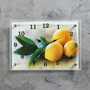 """Часы настенные, серия: Кухня, """"Лимонный аромат"""", 25х35  см, микс"""