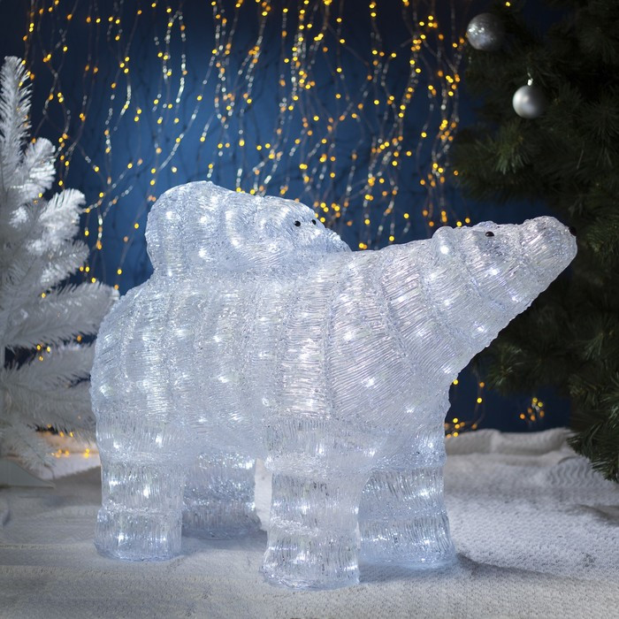 "Фигура акрил. ""Медведь с медвежонком"" 80х30х60 см, 150 LED, с конр. 8р.,220V"