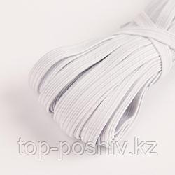 Резинка эластичная, 8 мм, 10 ± 1 м, цвет белый