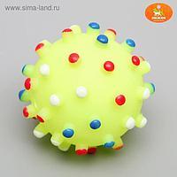 """Игрушка пищащая """"Бактерия"""" для собак, 6,3 см, жёлтая"""