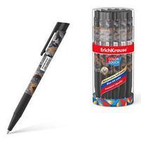 Ручка шариковая автоматическая ErichKrause ColorTouch Rough Native, узел 0.7 мм, чернила синие
