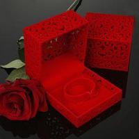 Футляр под браслет 'Куб резной', 10*10*6,5, цвет красный, вставка красная