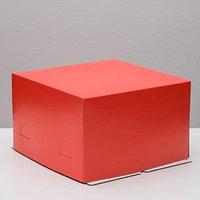 Кондитерская упаковка, красный, 30 х 30 х 19 см (комплект из 5 шт.)