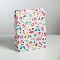 Пакет ламинированный вертикальный 'Хорошего настроения!', L 31 x 40 x 11,5 см (комплект из 6 шт.)