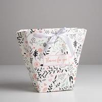 Пакет для цветов трапеция Flowers for you, 10 x 23 x 23 см (комплект из 5 шт.)