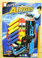 Упаковка немного помята!!! JM110-3 Пистолет со звуком 6 патронов на картонке Super Airgun 31*21см