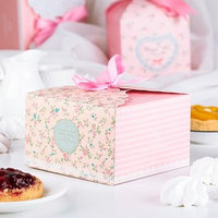 Коробка сборная для сладкого 14 х 14 х 9 см (комплект из 5 шт.)