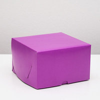 Упаковка для капкейков на 4 шт, без окна, фиолетовая, 16 х 16 х 10 см (комплект из 5 шт.)