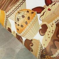 Набор упаковочной бумаги крафт 'Пироженки', 50 х 70 см, 10 листов