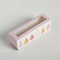 Коробочка для макарун 'Ёлочки', 18 x 5.5 x 5.5 см (комплект из 10 шт.)