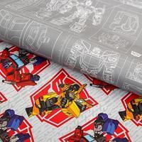Бумага упаковочная глянцевая двусторонняя, Трансформеры, 60x90 см (комплект из 10 шт.)