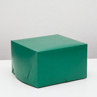 Упаковка для капкейков на 4 шт, без окна, изумрудная, 16 х 16 х 10 см (комплект из 5 шт.)