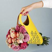 Пакет для цветов с вырубкой 'Кувшин', желтый, 37 х 18 см (комплект из 5 шт.)