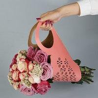 Пакет для цветов с вырубкой 'Кувшин', красный, 37 х 18 см (комплект из 5 шт.)