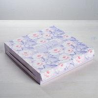 Упаковка для кондитерских изделий With love, 25 x 25 x 4.5 см (комплект из 10 шт.)