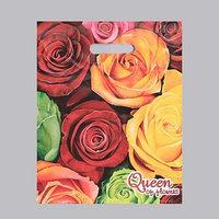 Пакет 'Королева цветов', полиэтиленовый с вырубной ручкой, 30 х 40 см, 35 мкм (комплект из 50 шт.)