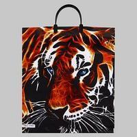Пакет 'Тигр', полиэтиленовый с пластиковой ручкой, 38х44 см, 90 мкм (комплект из 5 шт.)
