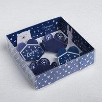 Коробка для макарун с подложками 'Порадуй себя', 12 х 12 х 3 см (комплект из 10 шт.)