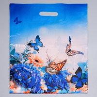 Пакет 'Бархатные бабочки', полиэтиленовый с вырубной ручкой, 40 х 50 см, 45 мкм (комплект из 50 шт.)