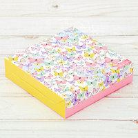 Коробка складная 'Для тебя', 14 x 14 x 3.5 см (комплект из 10 шт.)