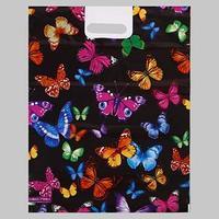 Пакет 'Бабочки', полиэтиленовый с вырубной ручкой, 38х47 см, 60 мкм (комплект из 25 шт.)