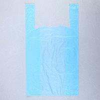 Пакет 'Голубой', полиэтиленовый, майка, 28 х 50 см, 12 мкм (комплект из 100 шт.)