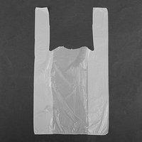 Пакет 'Белый', полиэтиленовый, майка, 25 х 45 см, 9 мкм (комплект из 100 шт.)