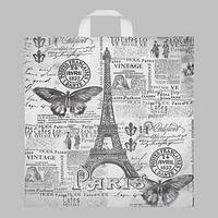 Пакет 'Парижский день', полиэтиленовый с петлевой ручкой, 38 х 42 см, 40 мкм (комплект из 25 шт.)