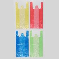 Пакет '4 цвета', полиэтиленовый, майка, МИКС, 40х20 см, 8 мкм (комплект из 100 шт.)