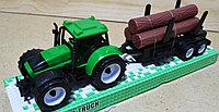 9970-3A Трактор Farmour Truck с деревом в колбе 32*10, фото 1