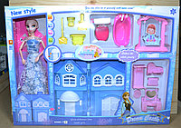 BX688-11C Домик New Style домик Фрозен Холодное сердце с мебелью с куклой 53*39