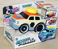 A2233-1 Машина Crash stunt Car на батарейках муз/свет 18*13, фото 1