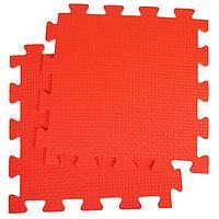 Детский коврик-пазл, 1 × 1 м, красный