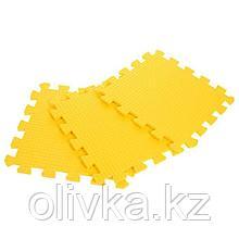 Детский коврик-пазл (мягкий), 9 элементов, толщина 0,9 см, цвет жёлтый, термоплёнка