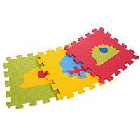 Детский коврик-пазл «Два ежа» (мягкий), 9 элементов 33 х 33 х 0,9 см, термоплёнка