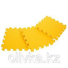 Детский коврик-пазл (мягкий), 9 элементов, толщина 1,8 см, цвет жёлтый, термоплёнка