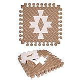 Детский коврик-пазл «Этника 1» 33х33 см, толщина 18 мм, (кофе с молоком, светло-кремовый), МИКС, термоплёнка, фото 5
