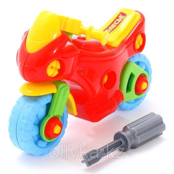 Конструктор-транспорт «Мотоцикл», 25 элементов (в пакете)