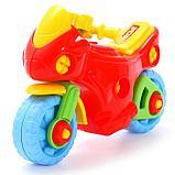 Конструктор-транспорт «Мотоцикл», 25 элементов (в пакете), фото 2